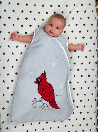 northern-cardinal-sleeping bag-baby
